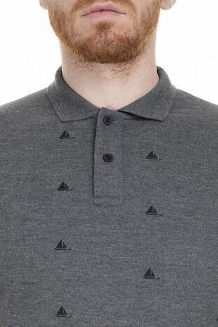 Buratti Yaka T Shirt Erkek Polo 4362056 ANTRASİT