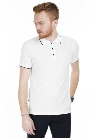 Buratti - Buratti Yaka T Shirt Erkek Polo 4362061 EKRU