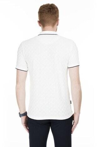 Buratti Yaka T Shirt Erkek Polo 4362061 EKRU