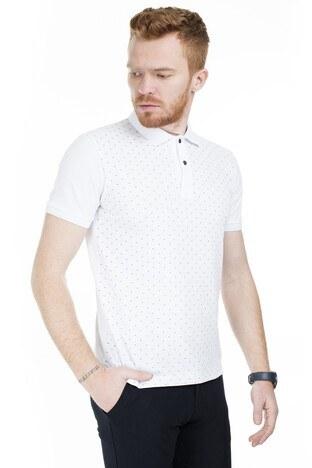 Buratti Yaka T Shirt Erkek Polo 4362065 BEYAZ
