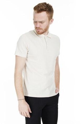 Buratti Pamuklu T Shirt Erkek Polo 566CF0011 BEJ