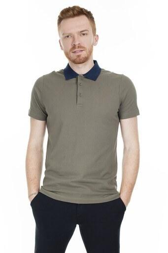 Buratti Pamuklu T Shirt Erkek Polo 566CF0011 HAKİ