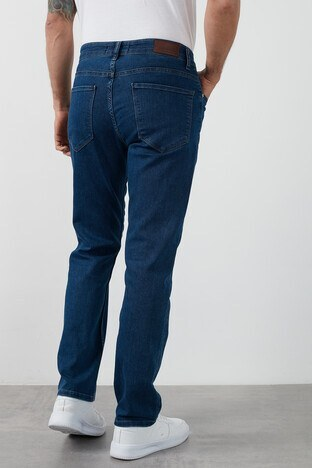 Buratti Yüksek Bel Regular Fit Boru Paça Pamuklu Jeans Erkek Kot Pantolon 7421E188KING KOYU MAVİ
