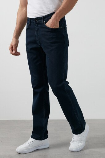 Buratti Yüksek Bel Regular Fit Boru Paça Pamuklu Jeans Erkek Kot Pantolon 7421H057KING KOYU LACİVERT