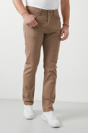 Buratti - Buratti Yüksek Bel Regular Fit Jeans Erkek Kot Pantolon 7503E217KING CAMEL