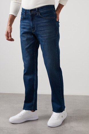 Buratti - Buratti Yüksek Bel Regular Fit Pamuklu Jeans Erkek Kot Pantolon 7421S471KING MAVİ