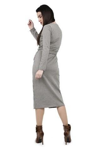 BUSEM Bayan Elbise 35912807 BEJ-SİYAH