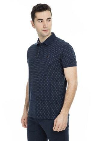 Cazador - Cazador Polo Yaka Erkek T Shirt CDR 4189 LACİVERT