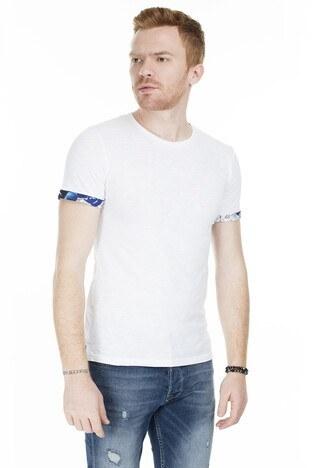 Cazador - Cazador Bisiklet Yaka Erkek T Shirt CAZ 4014 BEYAZ
