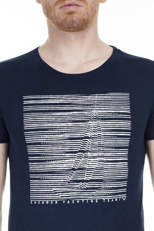 Cazador Bisiklet Yaka Erkek T Shirt CAZ 4054 LACİVERT