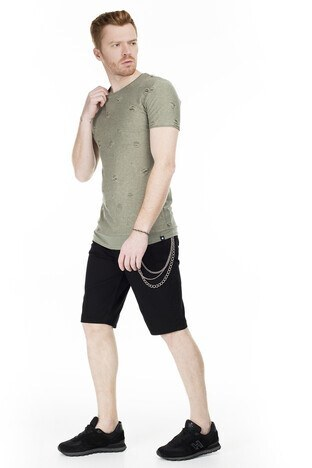 Cazador Bisiklet Yaka Erkek T Shirt CAZ 4064 HAKİ