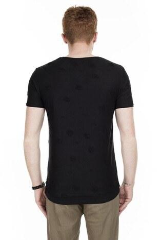 Cazador Bisiklet Yaka Erkek T Shirt CAZ 4064 SİYAH