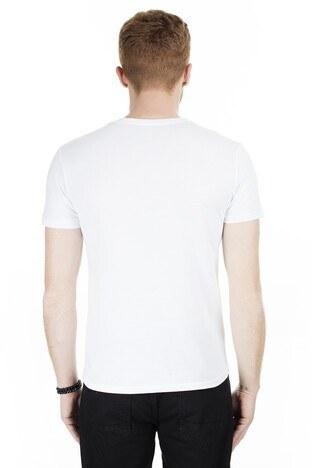 Cazador Bisiklet Yaka Erkek T Shirt CAZ 4072 BEYAZ