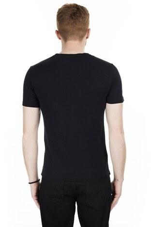 Cazador Bisiklet Yaka Erkek T Shirt CAZ 4099 SİYAH