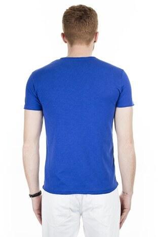 Cazador Bisiklet Yaka Erkek T Shirt CAZ 4222 ÇİVİT MAVİ