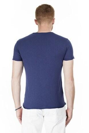 Cazador Bisiklet Yaka Erkek T Shirt CAZ 4222 LACİVERT