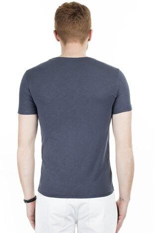 Cazador Bisiklet Yaka Erkek T Shirt CAZ 4602 ANTRASİT