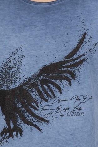 Cazador Bisiklet Yaka Erkek T Shirt CDR 4077 LACİVERT