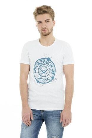 Cazador - Cazador Bisiklet Yaka Erkek T Shirt CDR 4082 BEYAZ