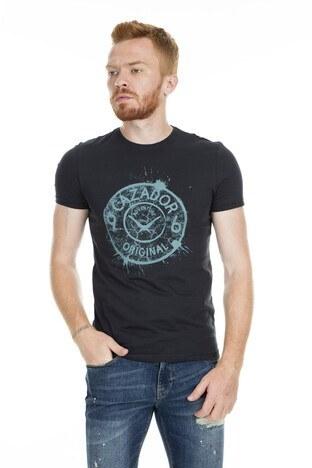 Cazador - Cazador Bisiklet Yaka Erkek T Shirt CDR 4082 SİYAH