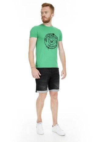 Cazador Bisiklet Yaka Erkek T Shirt CDR 4082 YEŞİL