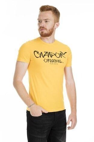 Cazador Bisiklet Yaka Erkek T Shirt CDR4080 SARI