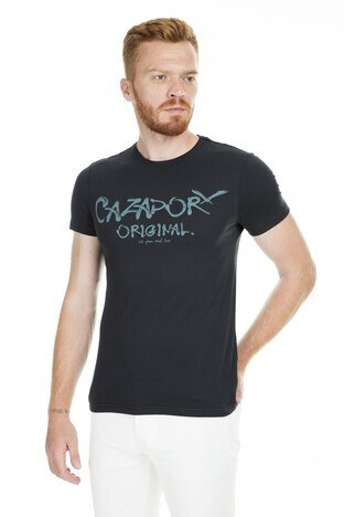 Cazador - Cazador Bisiklet Yaka Erkek T Shirt CDR4080 SİYAH