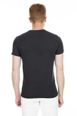 Cazador Bisiklet Yaka Erkek T Shirt CDR4080 SİYAH