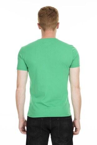 Cazador Bisiklet Yaka Erkek T Shirt CDR4080 YEŞİL