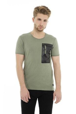 Cazador - Cazador Bisiklet Yaka Erkek T Shirt CDR4187D HAKİ