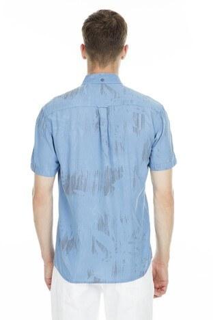 Cazador Desenli Kısa Kollu Erkek Gömlek CDR 2503 İNDİGO