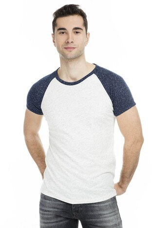 Cazador Erkek T Shirt 473CDR4514 EKRU