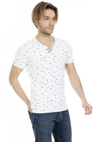 Cazador Erkek T Shirt CDR4073 BEYAZ