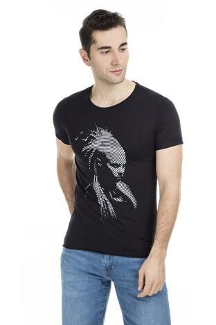 Cazador - Cazador Erkek T Shirt CDR4117 SİYAH