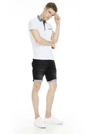 Cazador Polo Erkek T Shirt CDR 4178 BEYAZ