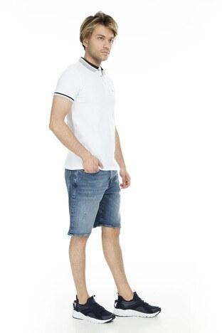 Cazador Polo Erkek T Shirt CDR 4294 BEYAZ