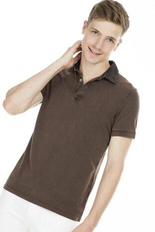 Cazador - Cazador Polo Erkek T Shirt CDR 4502D BİTTER
