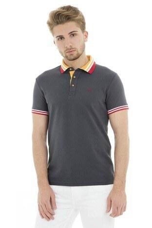 Cazador - Cazador Polo Erkek T Shirt CDR4296 ANTRASİT