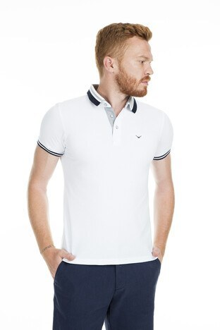 Cazador Polo Erkek T Shirt CDR4296 BEYAZ
