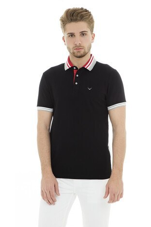 Cazador - Cazador Polo Erkek T Shirt CDR4296 SİYAH