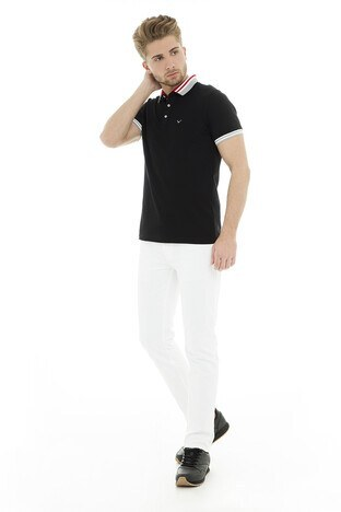 Cazador Polo Erkek T Shirt CDR4296 SİYAH