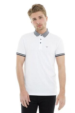 Cazador - Cazador Polo Erkek T Shirt CDR4298 BEYAZ