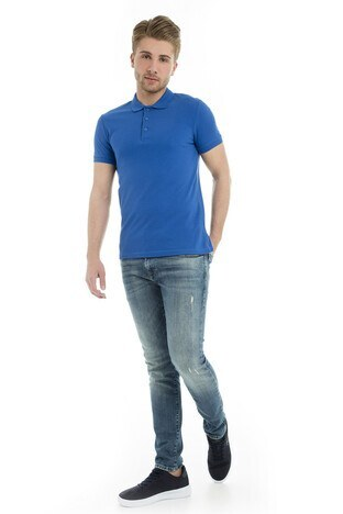 Cazador Polo Yaka Erkek T Shirt CDR 4613 ÇİVİT MAVİ