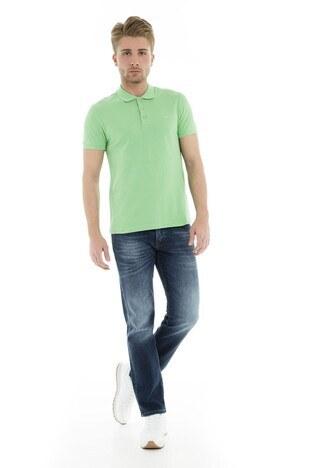 Cazador Polo Yaka Erkek T Shirt CDR 4613 ELMA YEŞİLİ
