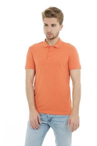 Cazador - Cazador Polo Yaka Erkek T Shirt CDR 4613 MANDALİN