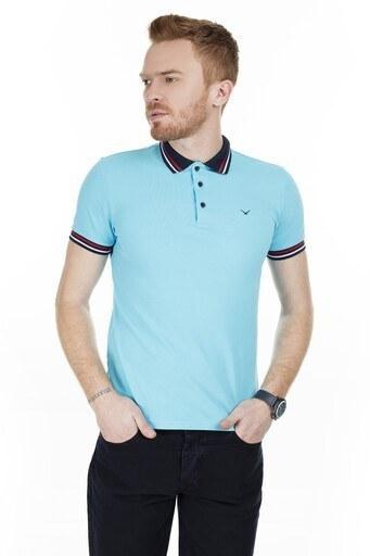 Cazador T Shirt Erkek Polo CAZ 4224 AQUA-MAVİ