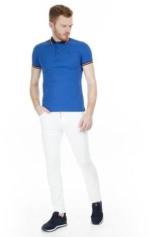 Cazador T Shirt Erkek Polo CAZ 4224 ÇİVİT MAVİ