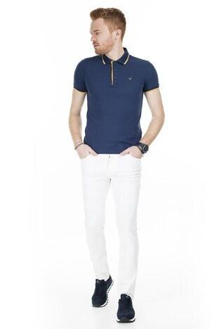 Cazador T Shirt Erkek Polo CAZ 4614 İNDİGO