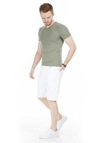 Cazador V Yaka Erkek T Shirt CAZ 4619 HAKİ