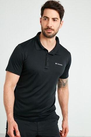Columbia Düğmeli T Shirt Erkek Polo AM6082-010 SİYAH
